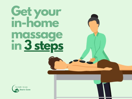 Booking your in-home massage