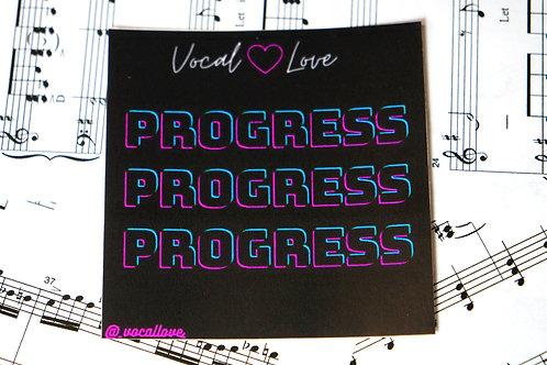 PROGRESS Sticker