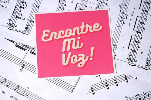 Encontre Mi Voz! Sticker