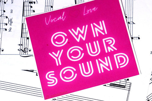 Own your Sound Sticker