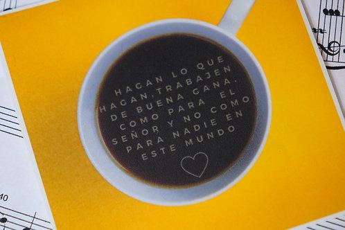 Colosenses 3:23 Cafecito Sticker