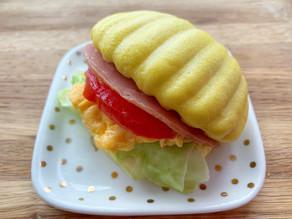 南瓜貝殼饅頭三文治