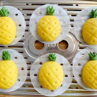 菠蘿造型饅頭