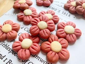 小紅花造型曲奇