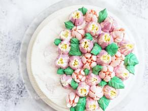 紫薯芋泥花束蛋糕