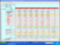 「エクセル資金繰予定表」予定表画面