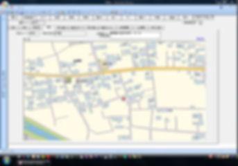 賃貸物件管理ソフト「街の不動産屋さん」物件情報画面(地図タブ)