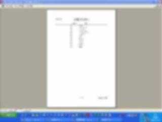 「Access汎用売上帳」分類マスター印刷イメージ