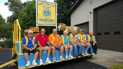 Fixing up the Lions float