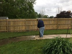 Power washing at Aperion Care