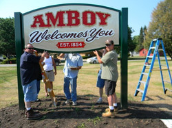 Welcome sign installation
