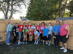 Nursing home fence painting