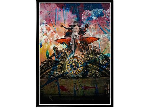 Hyped Statue Graffiti Poster, Hypebeast Poster, Modern Pop Art, Pop Culture Art