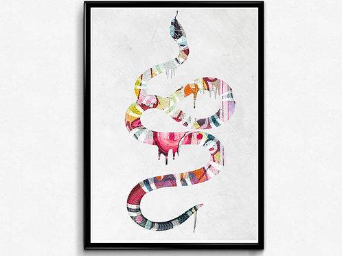 Graffiti Snakes Poster, Hypebeast Poster Print Pop Culture Poster Modern Pop Art