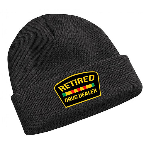 Retired Drug Dealer Black Jay Z Beanie Knit Cap Hat