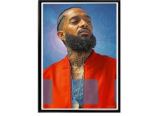 Nipsey Hussle Bandana Poster, Hypebeast Poster, Music Hip Hop Poster