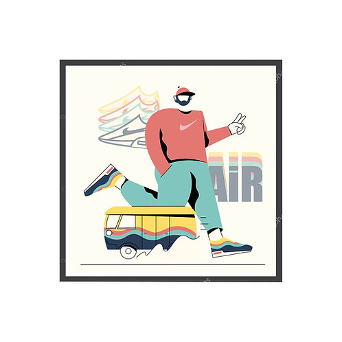 Sean Wotherspoon Minimal Art Poster, Hypebeast Poster, Sneaker Wall Art
