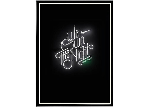 We Own The Night Poster, Hypebeast Poster, Sneaker Poster Art