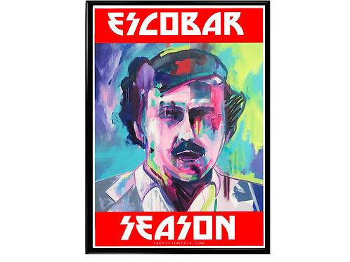 Pablo Escobar Season Graffiti Poster, Hypebeast Poster, Street Art Poster
