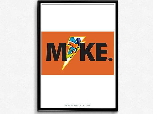Air Jordan Mike Poster, Modern Wall Art, Hypebeast Sneaker Poster