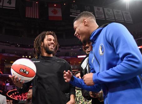 J COLE & MEEK MILL 2019 NBA ALL STAR GAME