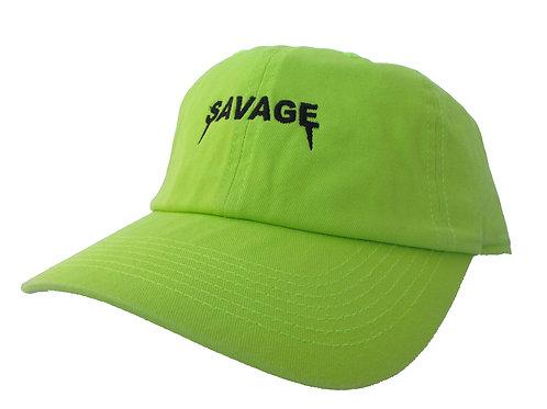 Savage Yeezus Font Neon Green Emoji Meme Drake Font Dad Hat