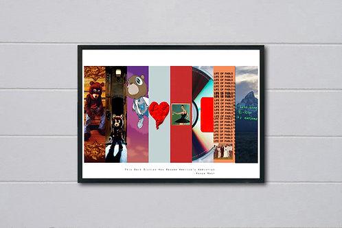 Kanye West Album History Art Poster Hypebeast Posters Prints