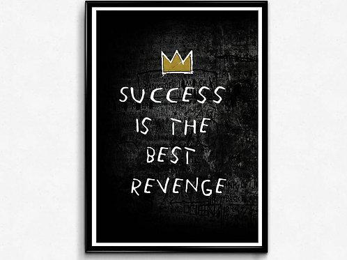 Success Poster, Basquiat Style Poster, Hypebeast Poster Print, Graffiti St