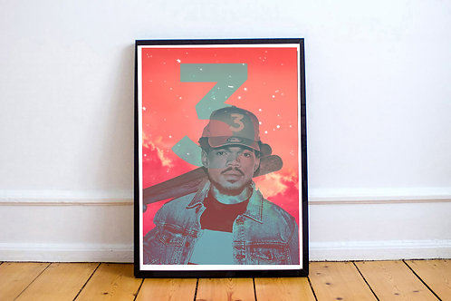 Chance The Rapper 3 Poster, Hypebeast Posters Prints, Rap Song Quote Poster