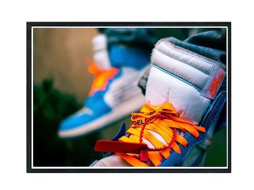 Off White Jordan Sneaker Photography Poster, Hypebeast Poster Kicks Poster