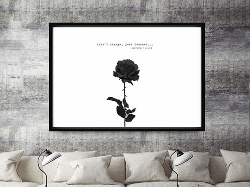 Bryson Tiller Quote Rose Art Poster Hypebeast Posters Prints