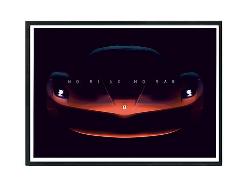 No Risk No Rari Poster, Hypebeast Poster Exotic Car Art Motivational Poster