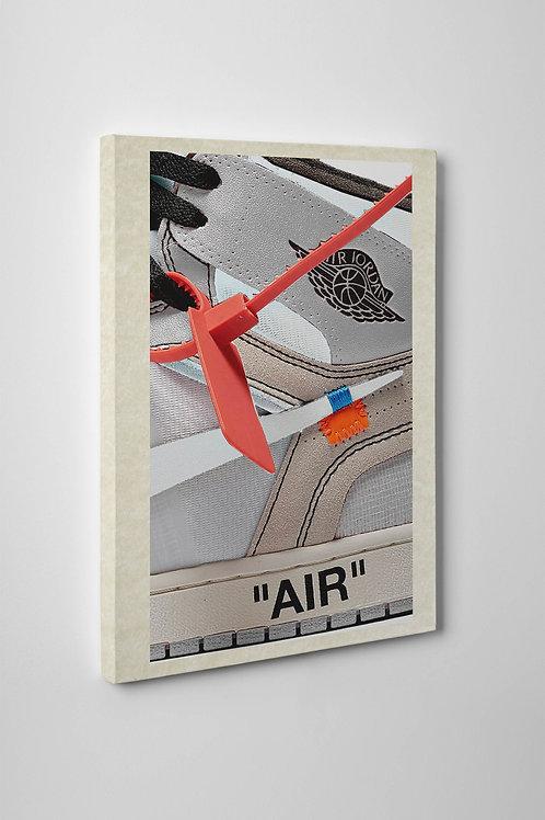 Off White x Jordan Sneaker Close Up Canvas Art Pop Culture Hypebeast Wall Art