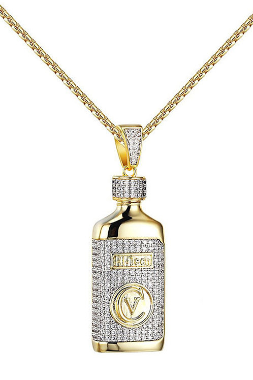 Syrup Drank Bottle 14k Gold Over Stainless Steal Mini Piece