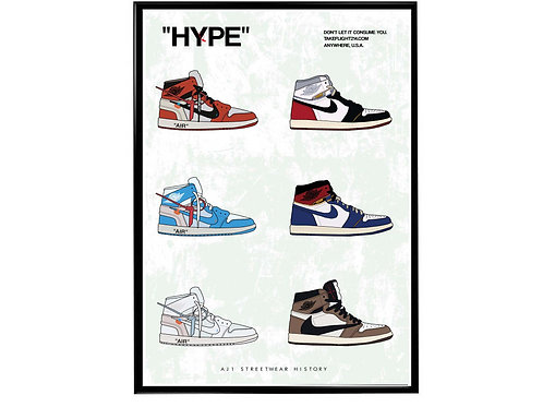 Air Jordan 1 Streetwear Poster, Hypebeast Poster, Kicks Pos
