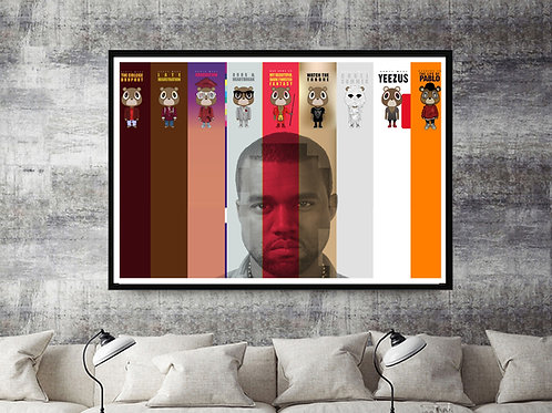 Kanye West Album Art Poster, Hypebeast Posters Prints