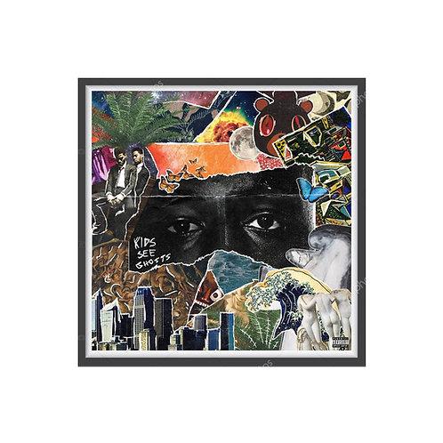 Kids See Ghost Album Collage Poster, Hypebeast Posters Print, Yeezy Kid Cudi