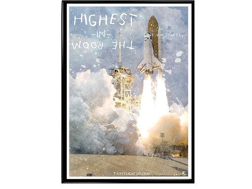 Highest in the Room Rocket Poster, Hypebeast Poster, Street Art Poster