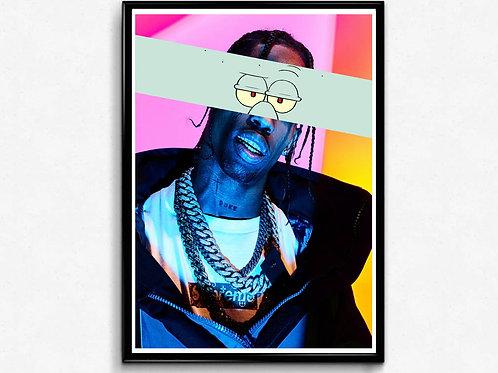 Travis Scott Eyes Mixed Media Poster, Hypebeast Poster Print, Music Poster