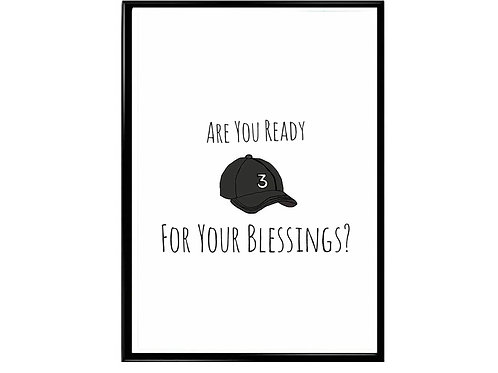 Chance The Rapper Blessings Poster, Music Poster Rap Slogan Poster