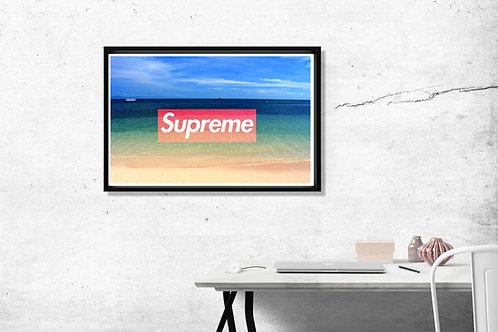 Custom Supreme Beach Hypebeast Poster Art 12x18 Poster Art Livingroom Wall