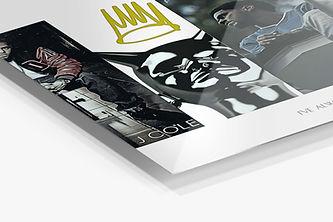 J Cole Album History Metal Print, Rap Al