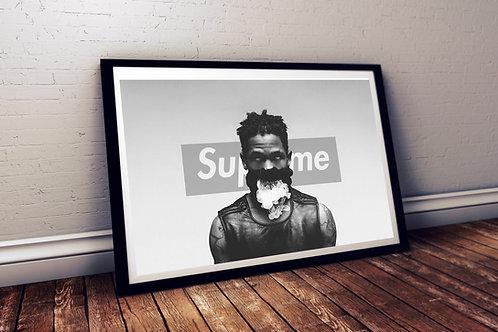 Supreme x Travis Scott Style Poster, Art Print Sneaker Art