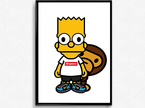 Baby Milo x Bart Poster Art, Hypebeast Poster Print Pop Culture Art