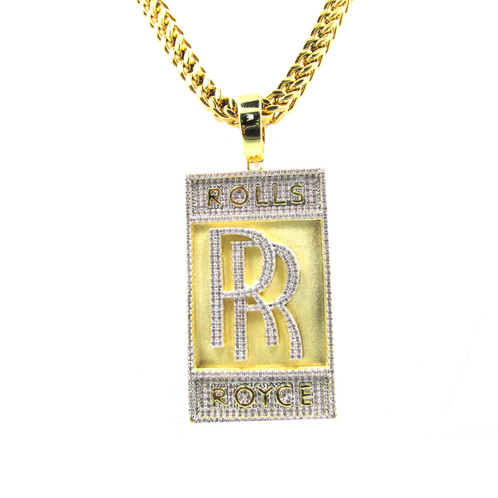 Rolls royce gold plated stainless steel cz pendant sneaker match rolls royce gold plated stainless steel cz diamond pendant all new limited edition micro chain set chains are now made with stainless steel sheer which hold aloadofball Choice Image
