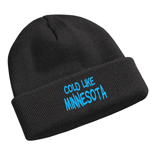 Cold Like Minnesota Lil Yachty Lil Boat  Font Black Beanie Knit Cap Hat