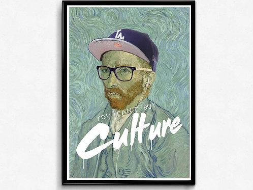 Vegan Van Graffiti Poster, Trendy Poster Print, Pop Culture Poster Art
