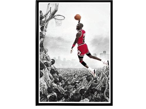 Be Like Mike Sneaker Poster, Hypebeast Poster Travis Scott Jordan 1 Kick