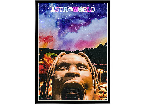 Astroworld Space Park Poster, Hypebeast Poster, Music Hip Hop Poster