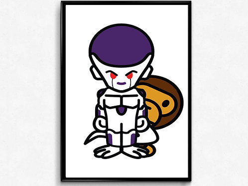 Baby Milo x Frieza Poster Art, Hypebeast Poster Print Pop Culture Art